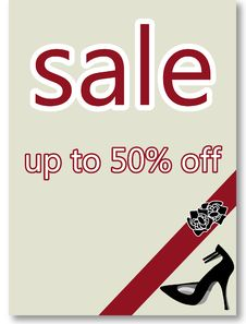 Sale Poster Royalty Free Stock Photography