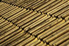 Golden Tiles Stock Photo