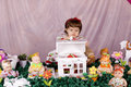 Free Baby Girl And Doll House Royalty Free Stock Photography - 15730317