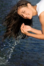 Free Happy Girl Washing Royalty Free Stock Images - 15736639
