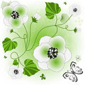 Free Gentle White-green Floral Background Royalty Free Stock Image - 15737276