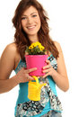 Free Young Girl With Flowers Stock Image - 15739931