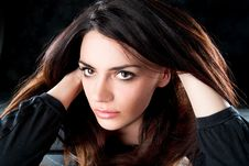 Free Fashion Shot Of A Trendy European Woman Royalty Free Stock Photos - 15730478
