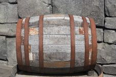 Small Wooden Barrel Stock Photography