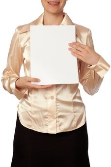 White Blank Paper Stock Image