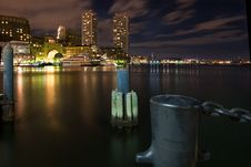 Boston Moorings At Night Stock Images