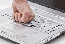 Free Damaged Laptop By Fist Royalty Free Stock Photo - 15731965