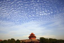 Cloudscape Over Forbidden City Royalty Free Stock Images