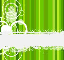 Stylish Green Banner Stock Images