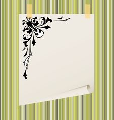 Free Paper Blank Leaf On A Striped Background, Eps10 Royalty Free Stock Photo - 15732715