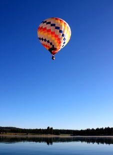 Free Hot Air Balloon High Over Lake Stock Image - 15733201