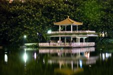 Free Lake Park By Night Stock Photography - 15733302
