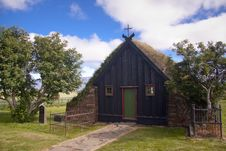 Free Old Wooden Church In Iceland At Vidimyri. Royalty Free Stock Photos - 15734178