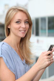 Free Beautiful Blond Woman Stock Photography - 15734312
