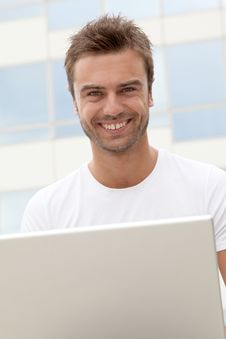 Free Portrait Of Smiling Man Stock Photos - 15734403