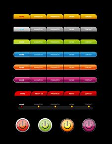 Free Set Of Colored Buttons. Stock Photos - 15734513