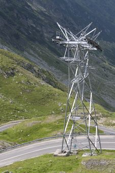 Free Electricity On A High Mountain Road Royalty Free Stock Photo - 15734955