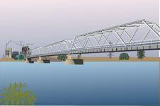 Free Bridge To City Building Stock Photos - 15736393