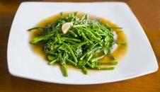 Plate Of Stir Fried Thai Vegetables Royalty Free Stock Photos