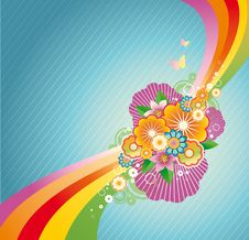 Free Colored Floral Background Stock Image - 15736681