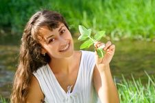 Free Smiling Happy Girl With Mint Royalty Free Stock Photo - 15736745