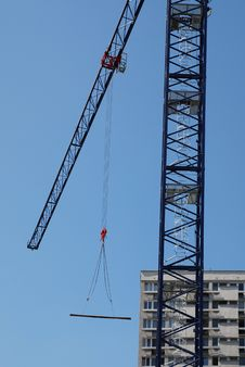 Free Steel Crane At Building Site Royalty Free Stock Image - 15736936