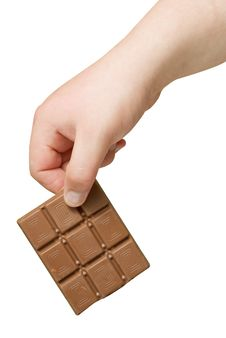 Free Chocolate In Hand Isolated Stock Images - 15736994