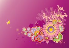 Free Colored Floral Background Stock Photography - 15737472
