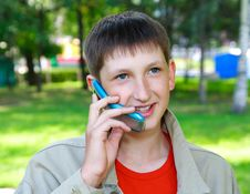 Free Boy With Phone Royalty Free Stock Photos - 15737698