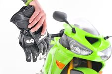 Motorcyclist Gloves Royalty Free Stock Photography