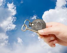 Free Keychain In Human Hand Stock Photos - 15738183