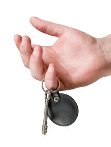 Free Keychain In Hand Isolated Stock Images - 15738634