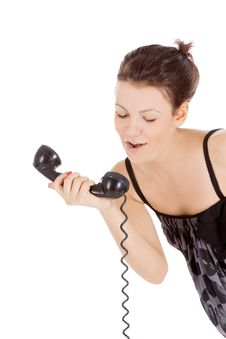 Free Girl Calling At The Phone Royalty Free Stock Photography - 15738917