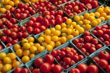 Tomatoes On Vegetable Stand Royalty Free Stock Photos