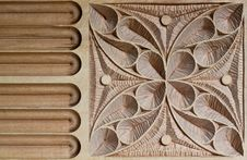 Carved Wood Panel Stock Image