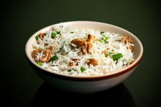 Free Risotto Of Rice And Mushroom Royalty Free Stock Photos - 15740408