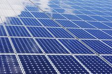 Free Solar Panels With Some Cloud Reflexions Stock Photos - 15741593