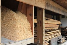 Sawdust And Lumber Royalty Free Stock Image