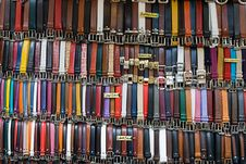 Free Selection Of Belts. Stock Photo - 15743050