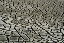 Dry Cracks On Soil Royalty Free Stock Photo