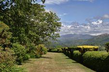 Free Terrace Walk, Muncaster Castle Stock Photos - 15743923
