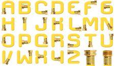 Free Yellow Garden Hose Alphabet Stock Image - 15744481