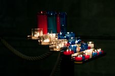 Prayer Candles In A Church Royalty Free Stock Image