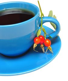Free Rose-hips Branch And Tea Stock Image - 15744631
