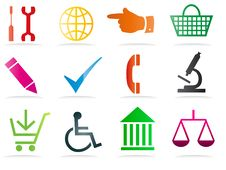 Free Set Of Business Related Vector Icons Stock Images - 15744754