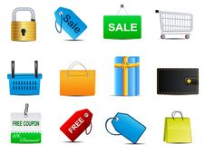 Free Set Of Business Related Vector Icons Stock Image - 15744811