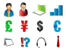 Free Set Of Business Related Vector Icons Royalty Free Stock Images - 15744849