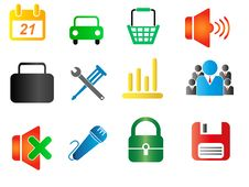 Free Set Of Business Related Vector Icons Royalty Free Stock Image - 15744876