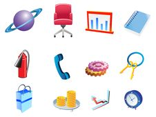Free Set Of Business Related Vector Icons Stock Image - 15744881