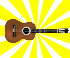 Free Classic Brown Guitar Royalty Free Stock Photos - 15745028